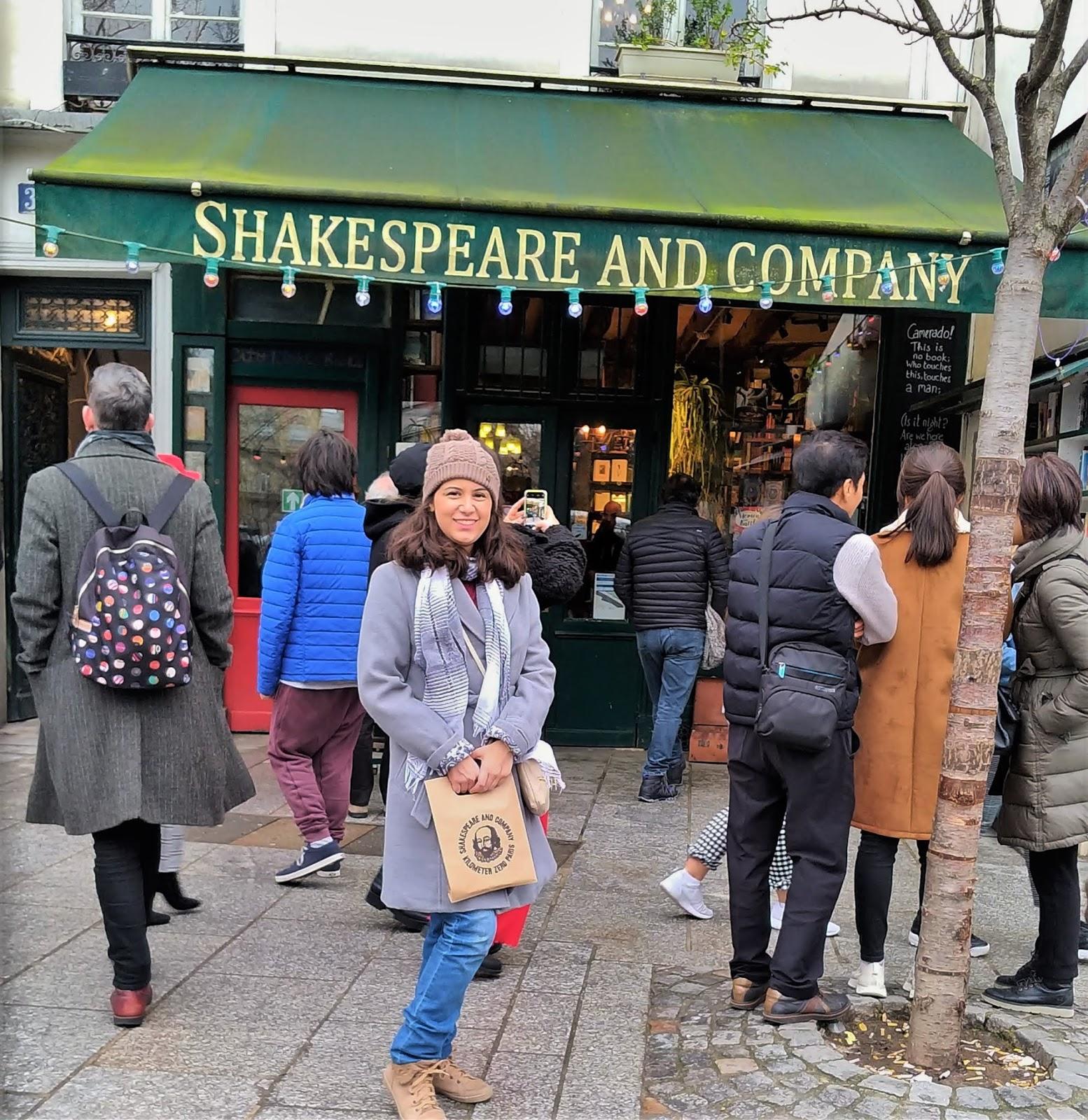 Livraria Shakespeare and Company sacola de compras