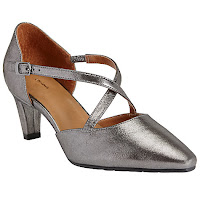 Pewter t-bar shoes from John Lewis
