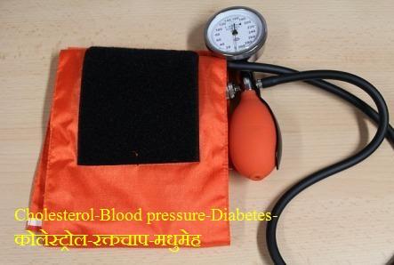 Cholesterolकोलेस्ट्रोल-रक्तचाप-मधुमेह