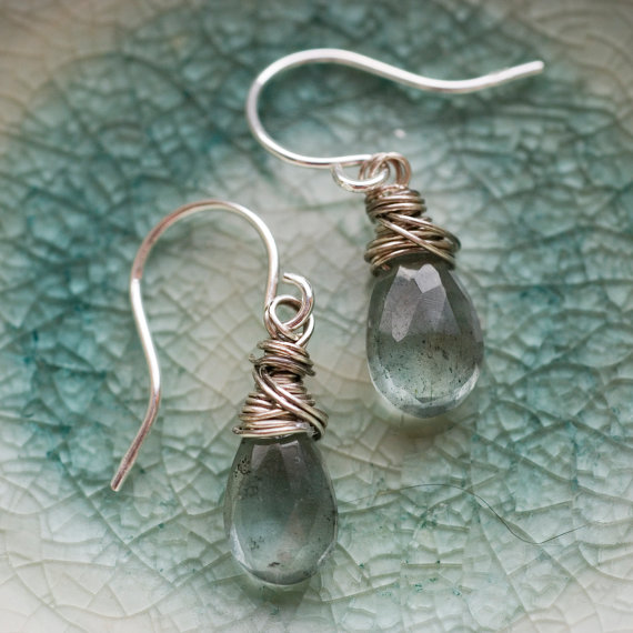 Etsy Offers A Wide Variety Of Aquamarine Jewelry Including The Earrings Above Diamond Is April Birthstone Lucky For Them Not So People