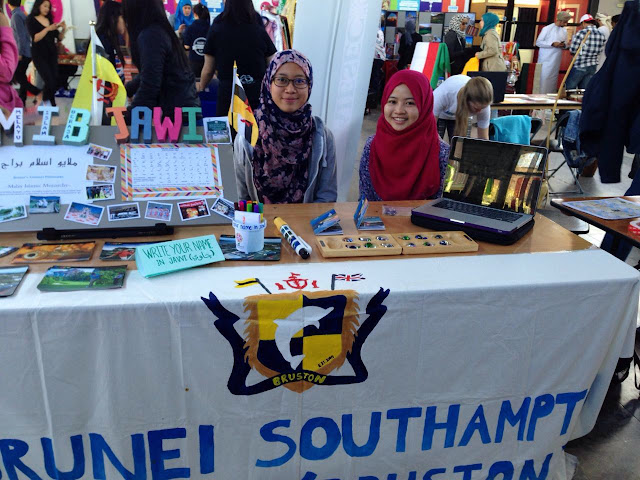 Bruston's booth during Global Village