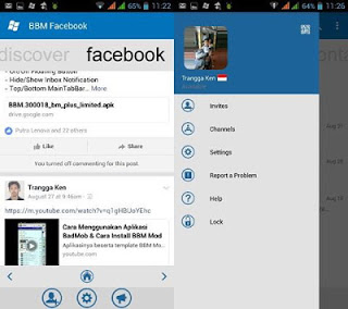 BBM MOD Windows Phone FACEBOOK V3.0.1.25 Terbaru