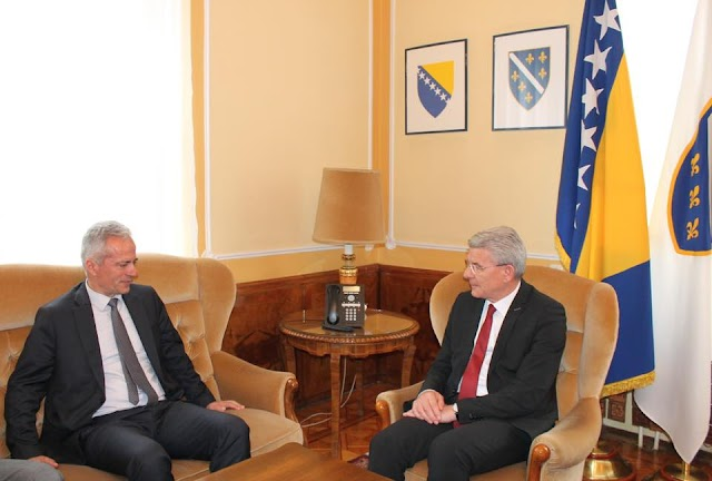 Šefik Džaferović primio ministra za rad i socijalno staranje Kemala Purišića