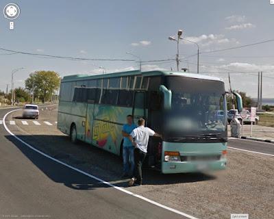 Setra S315 GT, droga na Krym