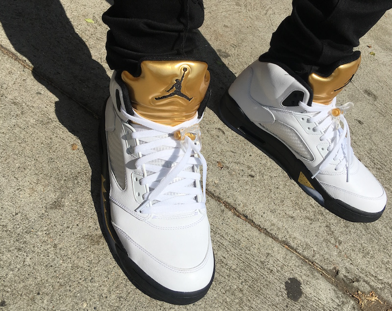 official photos 39a1d 7838a ... Air Jordan 5 Gold Tongue 136027-133 Release Date ...