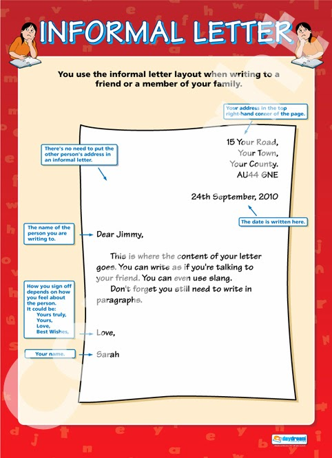 Informal letter sample