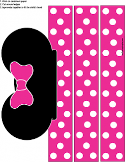 Minnie Party in Zebra and Fucsia Free Printable Kit.