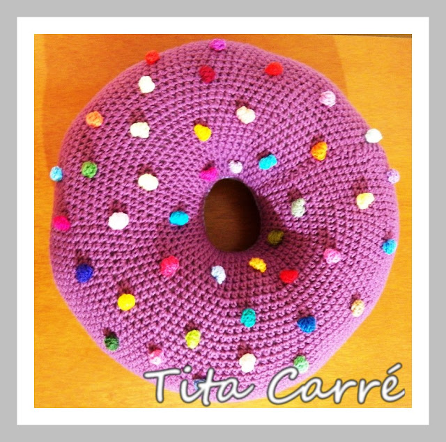 crochet donut pillow