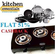 Flat 51% Cashback On Home & Kitchen Products @ Paytm