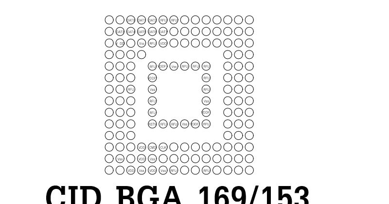 Cid eMMC ( Card Identification Register ) BGA 169/153 Lengkap