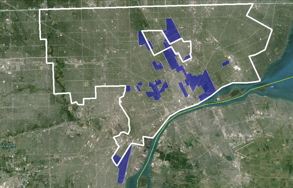 SW Ontario Urbanist: Detroit racial demographics changes in ... on map of dearborn, map of neighborhoods in detroit, map of lincoln park, map of brownstown, map of romulus, map of west detroit, map of river rouge, map of se detroit, map of westland,