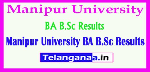 Manipur University BA B.Sc Results 2018