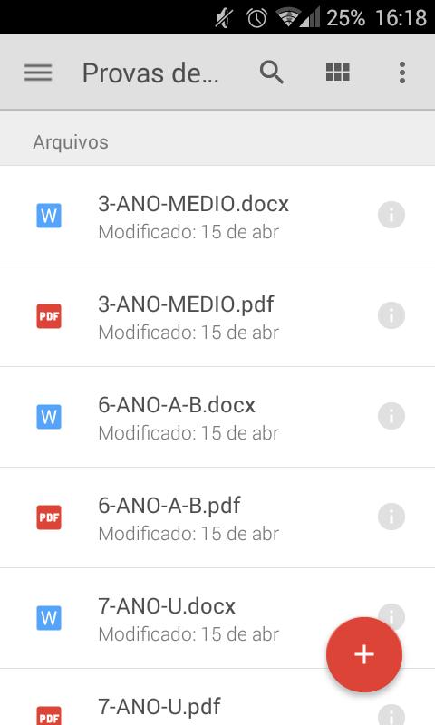 Google Drive Provas