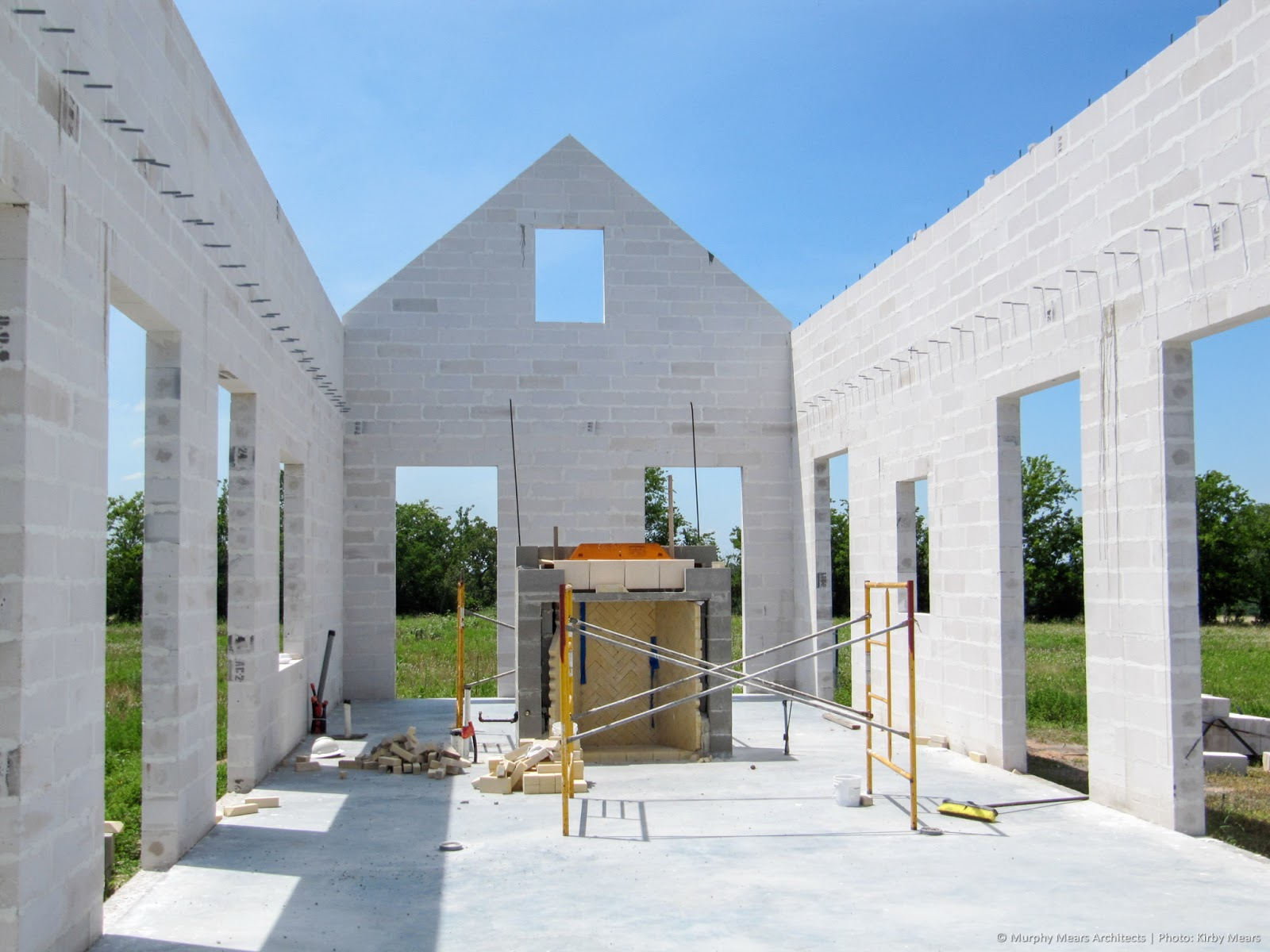 Modern farmhouse under construction by Kirby Mears and Eleanor Cummings on Hello Lovely Studio