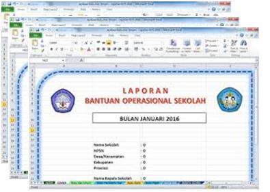 Aplikasi Laporan Keuangan Sekolah File Excel Tahun 2016/2017