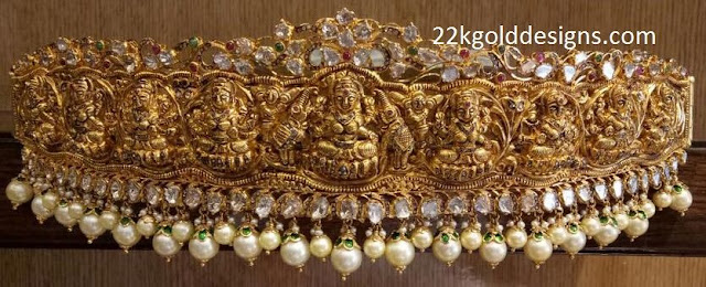Antique Gold Lakshmi Vaddanam