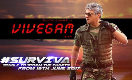 Vivegam – Surviva Song Teaser | Ajith Kumar | Anirudh Ravichander | Siva