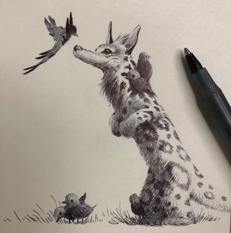 05-Bobby-Chiu-Fun-and-Cute-Ink-Fantasy-Animals-www-designstack-co