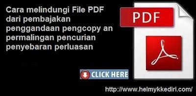 Cara melindungi File PDF dari pembajakan