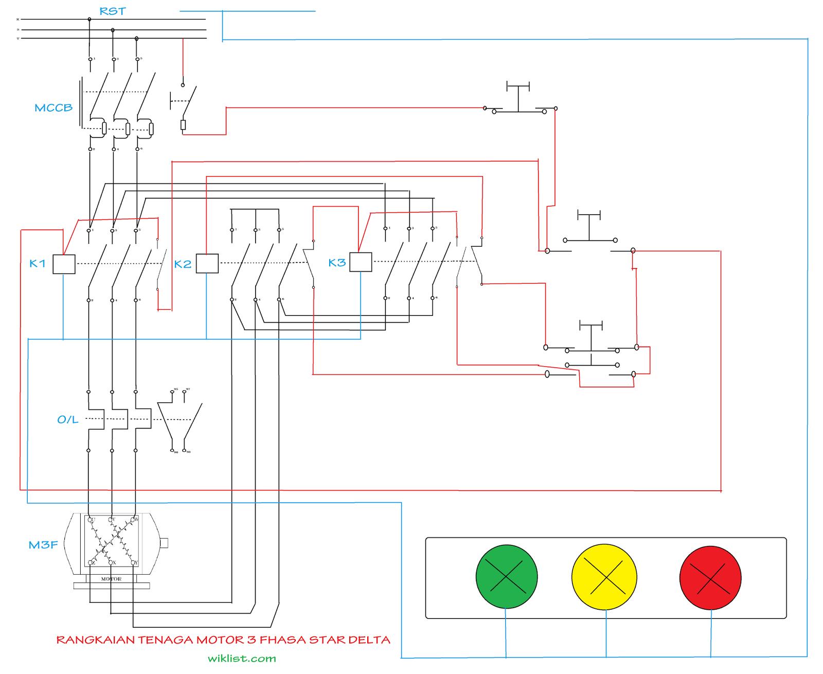 Wondrous Sistem Kontrol Motor Listrik 3 Phasa Star Delta Mebuat Dan Wiring Digital Resources Honesemecshebarightsorg