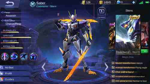 Gear Hero Saber Mobile Legend Terbaru Paling Kuat
