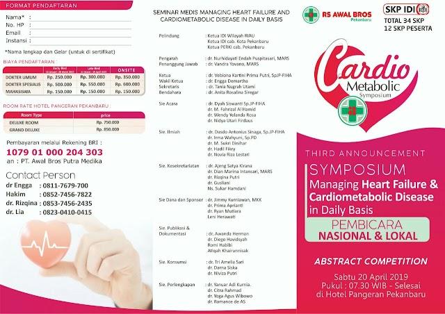 Symposium Managing Heart Failure and Cardiometabolic Disease in Daily Basis  20 April 2019 Jakarta (SKP IDI)
