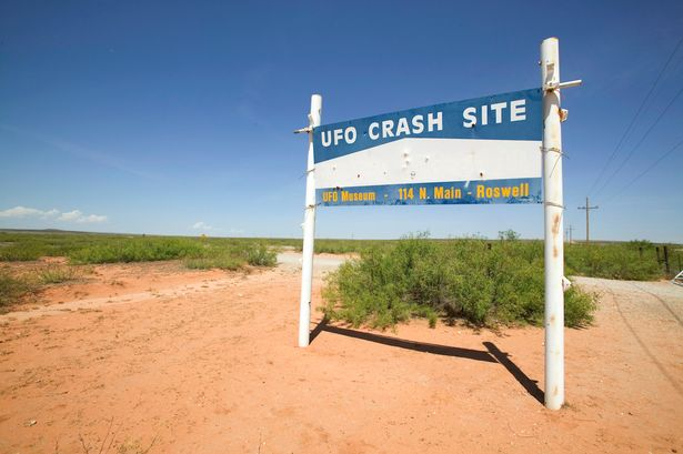 Crash site: the Roswell UFO Museum Sign is there for all to see (Image: Getty)