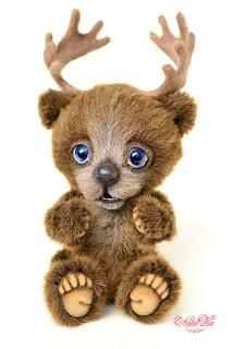 Artist teddy bear, handmade bear, moose bear, buy bear, Bär Elch, Teddybär kaufen, ooak bear, NatalKa Creations, teddies with charm, teddy bears, Künstlerteddy, Künstlerbär, Teddybär, Unikat