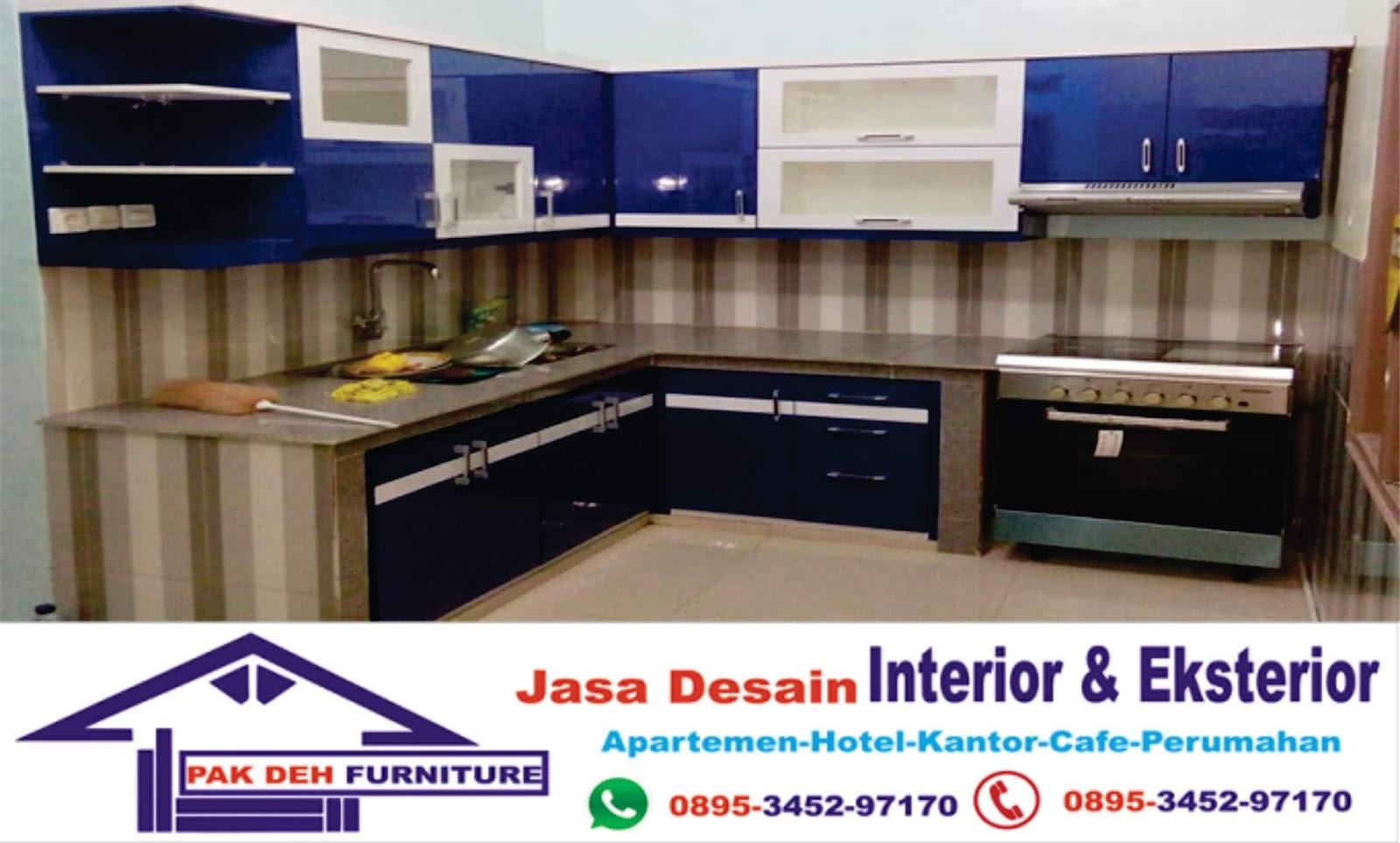 Kitchen set kayu pinus di cinere depok