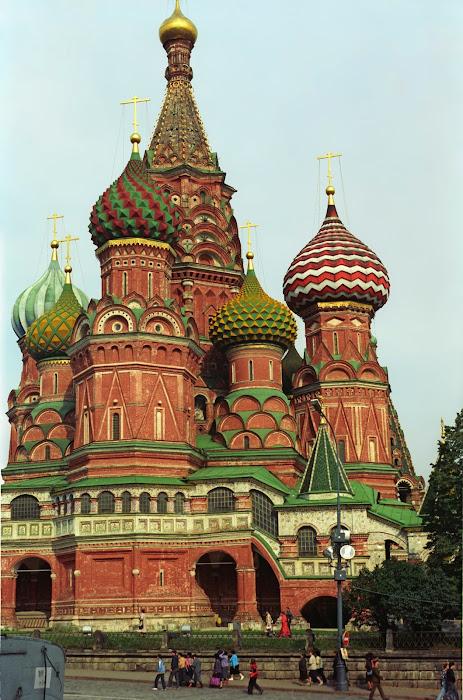 Moscou, Kremlin, Place Rouge, Basile-le-Bienheureux, © L. Gigout, 1990