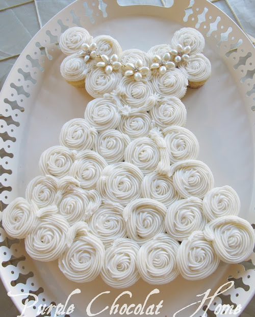 Perfect Bridal Shower Cake - Purple Chocolat Home