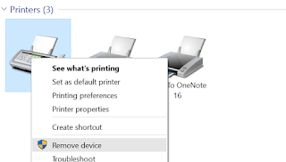 To remove Multiple Copies of Printer under Other Devices