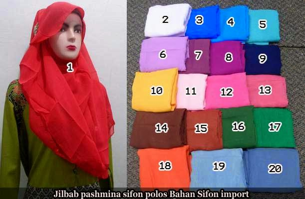 jilbab pashmina sifon polos
