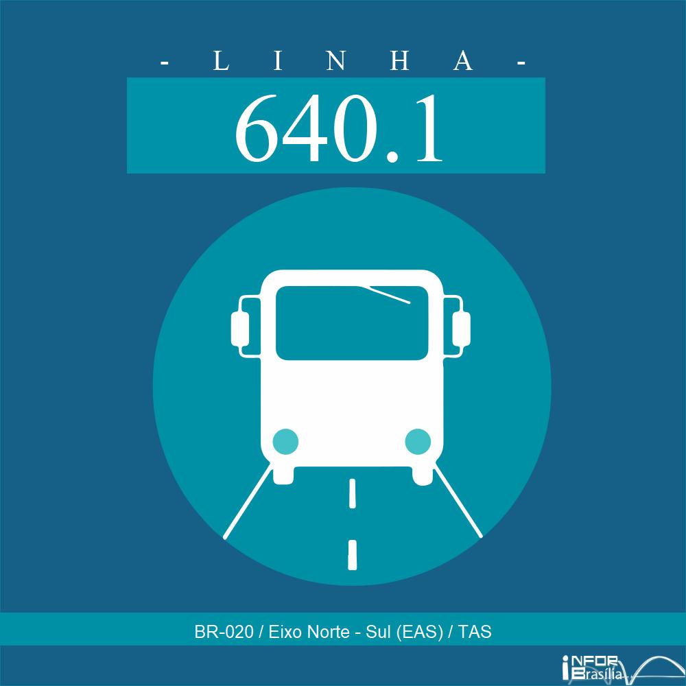 Horário de ônibus e itinerário 640.1 - BR-020 / Eixo Norte - Sul (EAS) / TAS