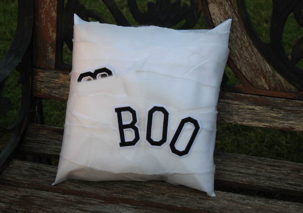 boo mummy pillow halloween decoration
