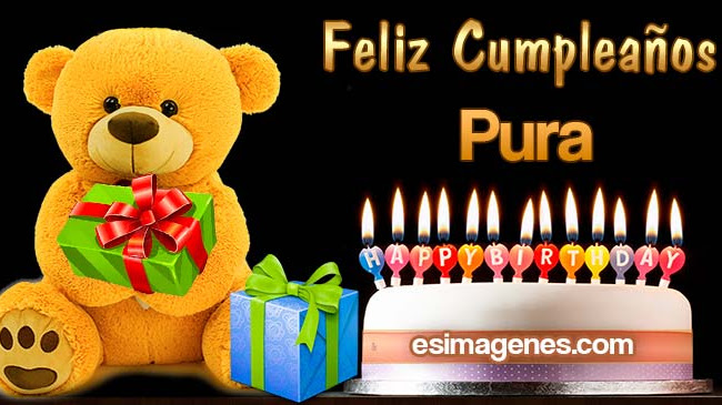 Feliz cumpleaños Pura