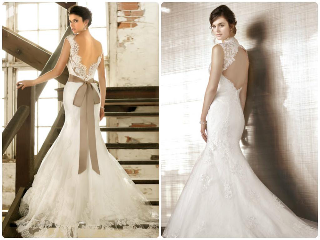 lace wedding dress with keyhole back | hd wallpaper