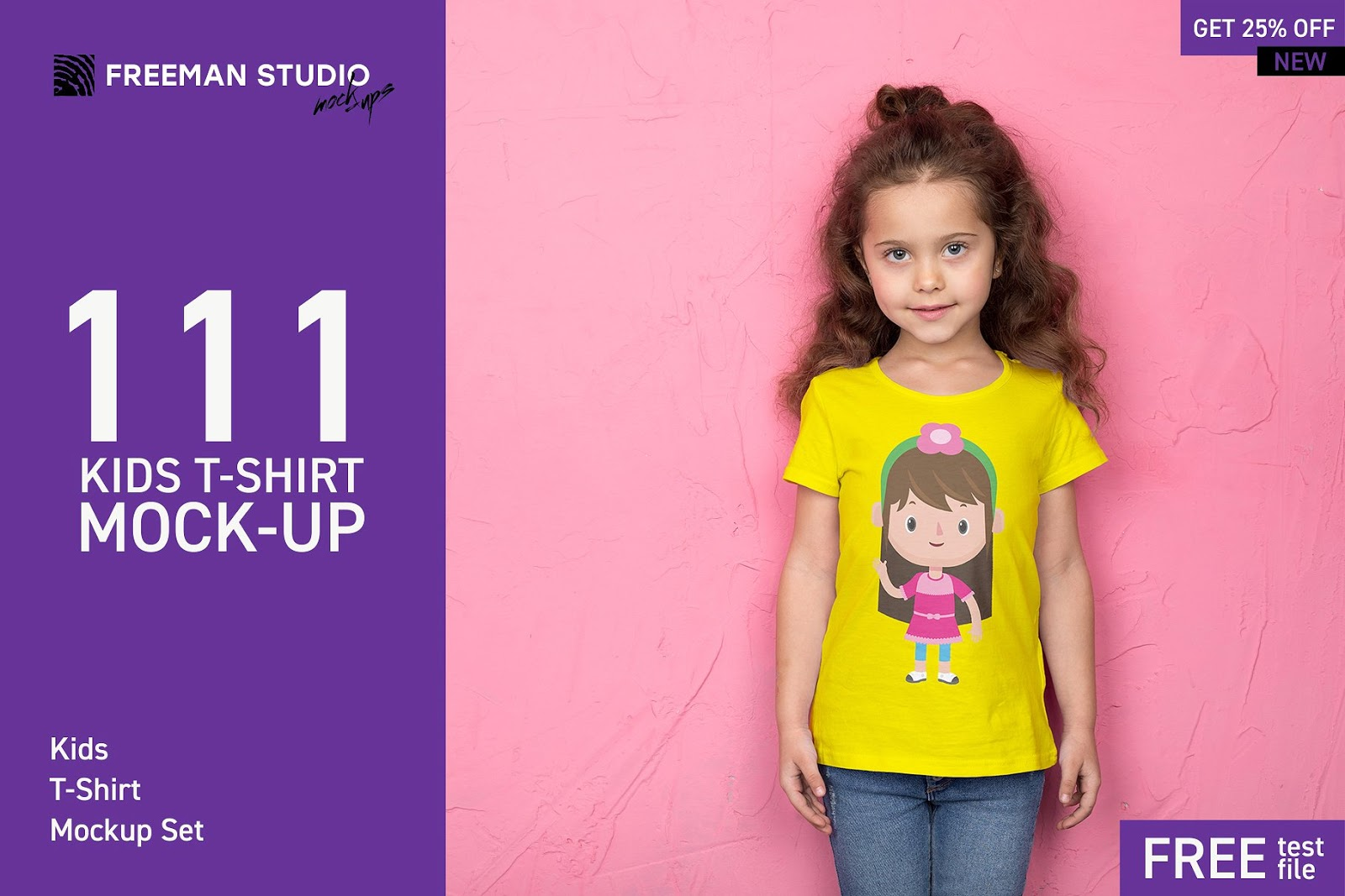 111 Kids T-Shirt MockUp Bundle