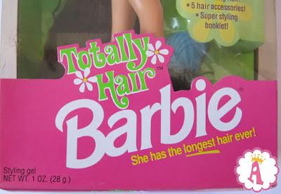 Коробка с куклой Barbie Totally Hair 1991 original