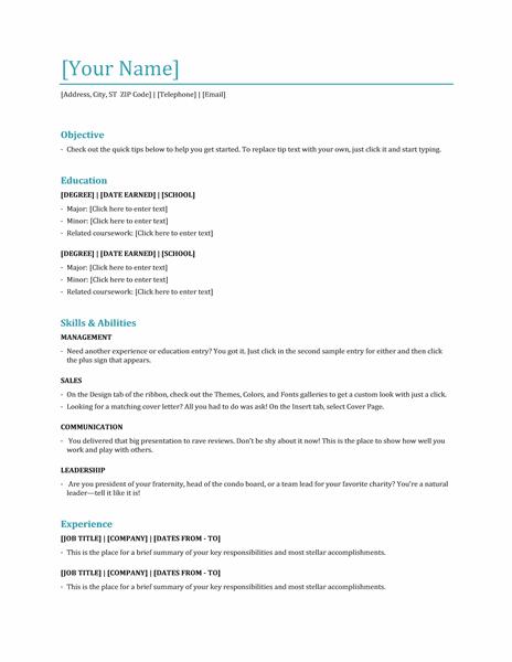 job resume template word functional resume template