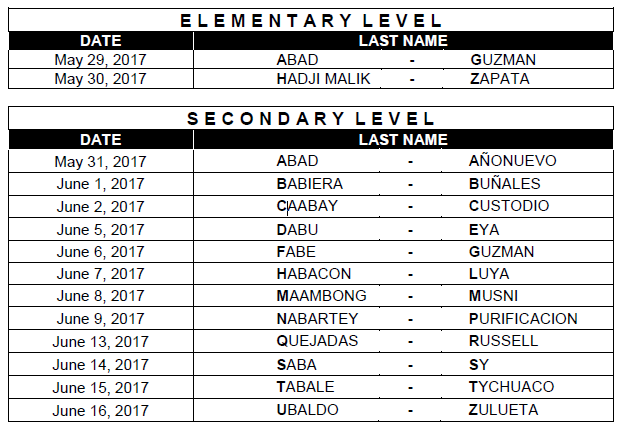Manila passers registration schedule March 2017