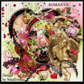 Romantic Scrap Kit - 67 PNG images + 12 JPEG, 3600x3600 px