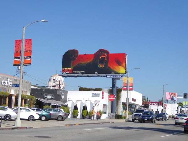 Kong Skull Island extension billboard