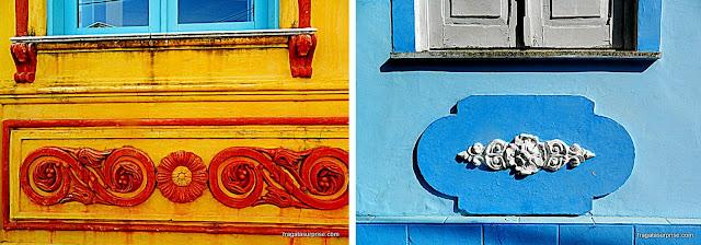 Detalhes das fachadas do Santo Antonio Além do Carmo - Salvador - Bahia
