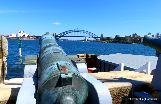 Fort Denison, canons.