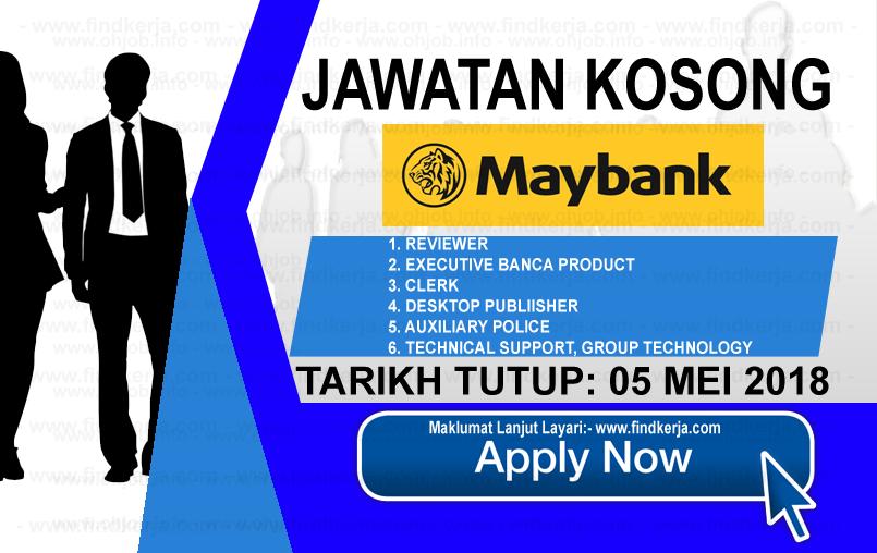 Jawatan Kerja Kosong Maybank - Malayan Banking logo www.findkerja.com mei 2018