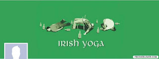 Funny Leprechaun Irish Yoga Cover for Drunk Sait. Patrick Day 2016
