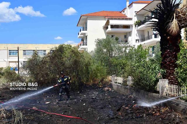 Πυρκαγιά σε οικόπεδο μέσα στην πόλη του Ναυπλίου