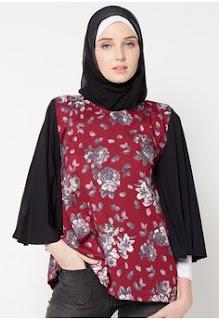 Model Batik Muslim Kerja Motif Bunga