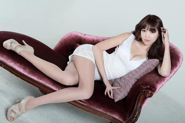Lee Eun Hye 이은혜 White Mini Dress Pictures 4